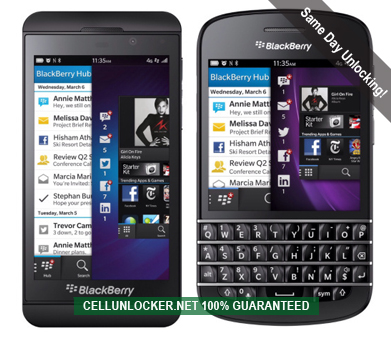 how to unlock blackberry z10 q10