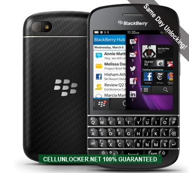 how to unlock blackberry q10