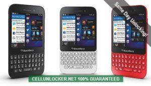 how to unlock blackberry q5