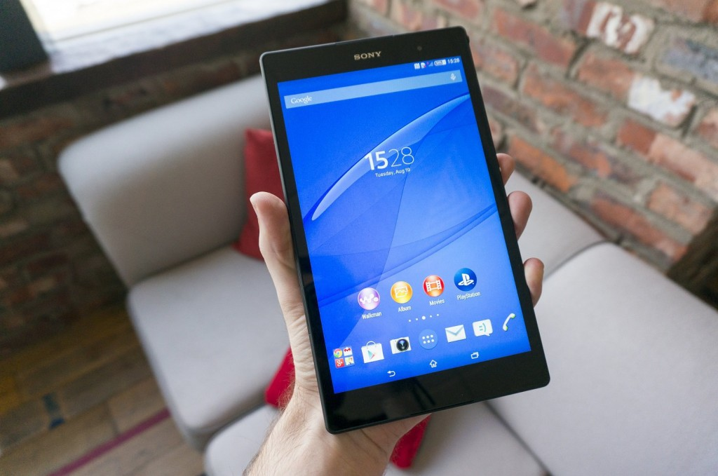 z3 tablet hand
