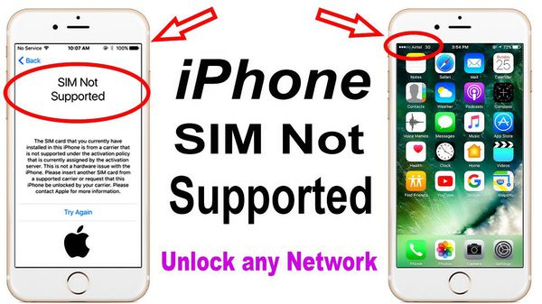 sim not supported iphone