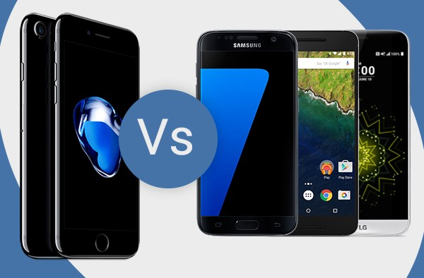 iphone vs samsung sales iphone 7 vs other 2016 phones cellunlocker net 1685