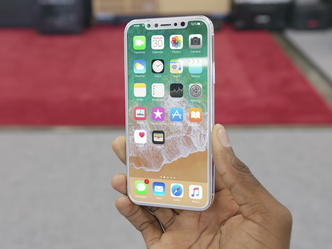 brownlee-edited-the-ios-11-home-screen-onto-the-dummy-model-using-adobes-after-effects-software-to-see-what-the-phone-might-look-like-while-powered-on